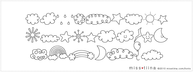 MTF Sweet Sky Dings font