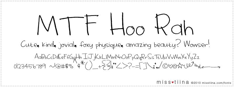 MTF Hoo Rah font