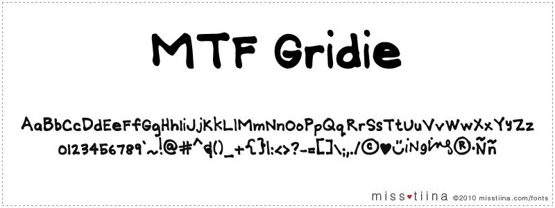 MTF Gridie font