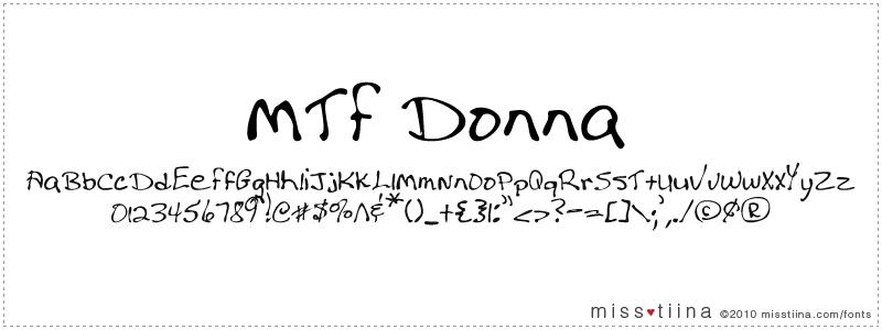 MTF Donna font