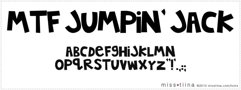MTF Jumpin' Jack font
