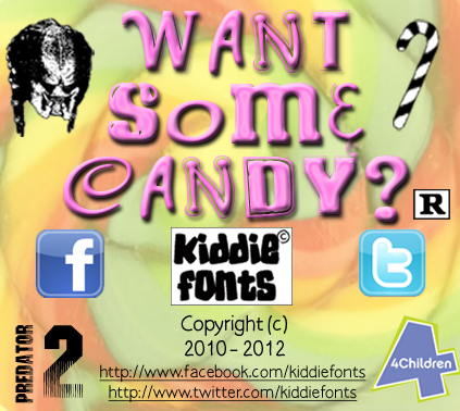 WANT SOME CANDY? font