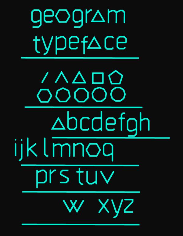 GEOGRAM font
