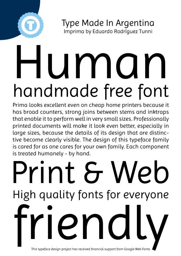 Imprima font