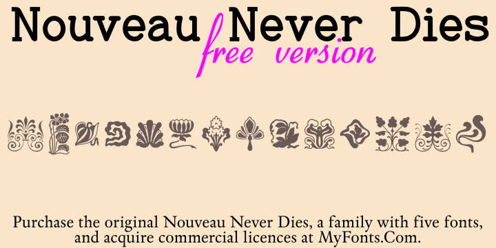 Nouveau Never Dies font