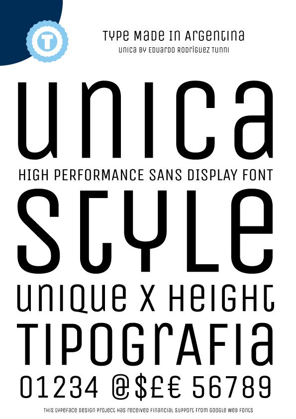 Unica font