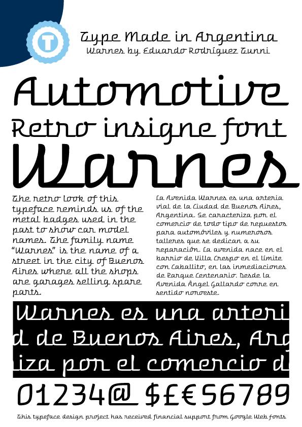 Warnes font