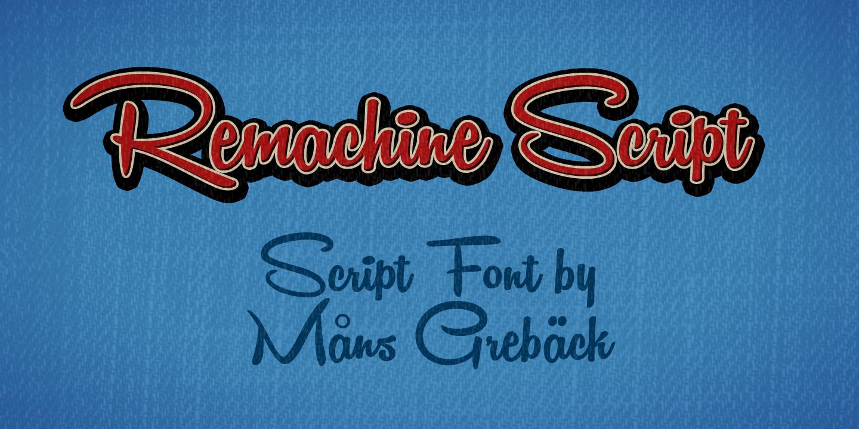 Remachine Script font