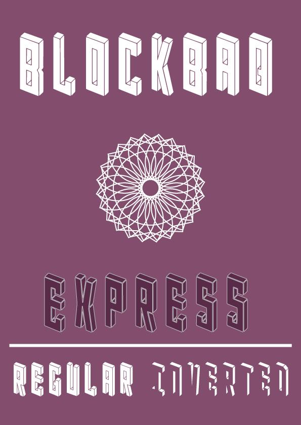 Blockbaq font