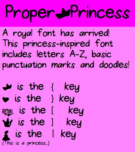Proper Princess font