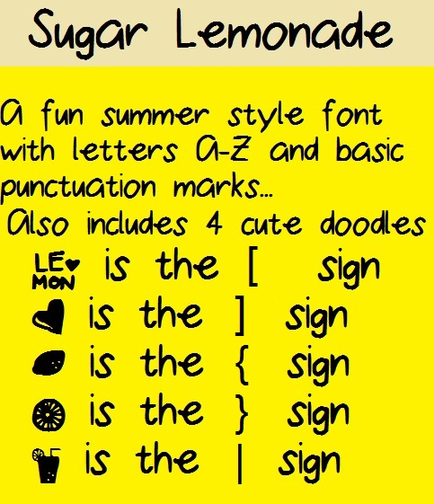 Sugar Lemonade font