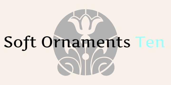Soft Ornaments Ten font