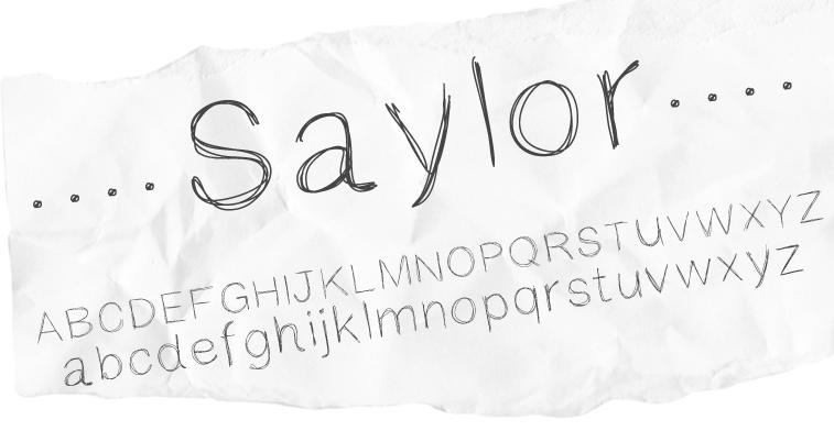 Saylor font