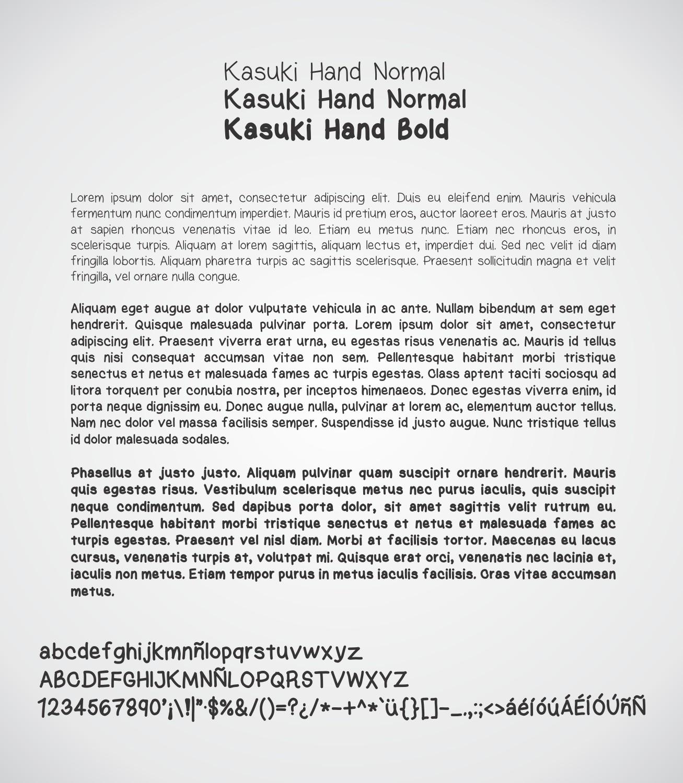 Kasuki Hand font