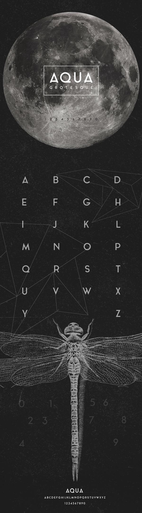 Aqua font