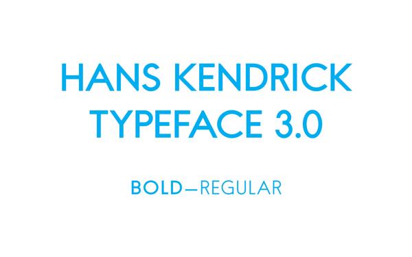 Hans Kendrick font