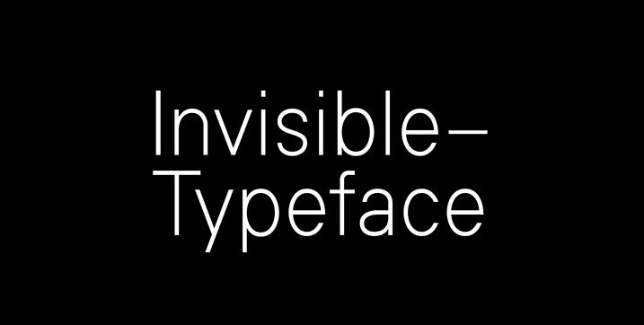 Invisible font
