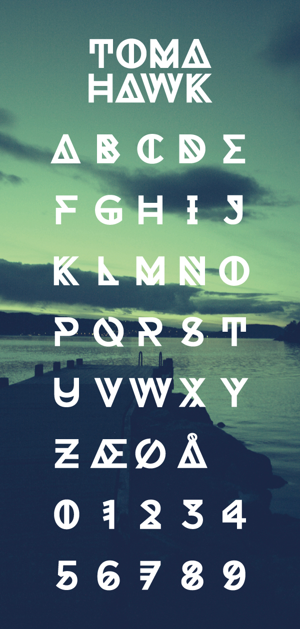 Tomahack font