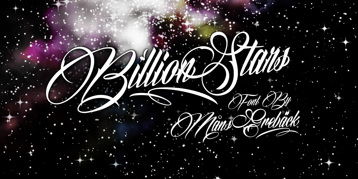 Billion Stars font