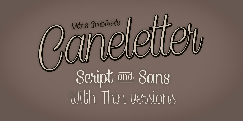 Caneletter Sans font