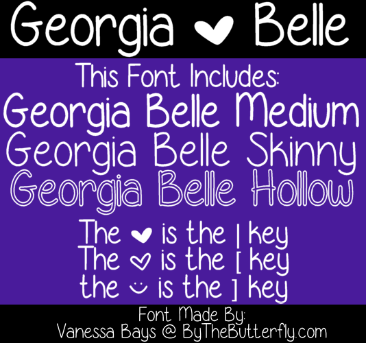 Georgia Belle font