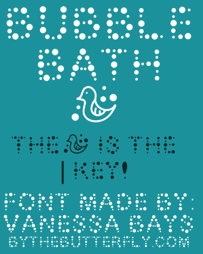 Bubble Bath font