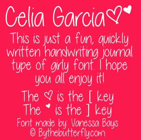 Celia Garcia font
