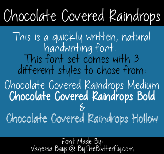 Chocolate Covered Raindrops font