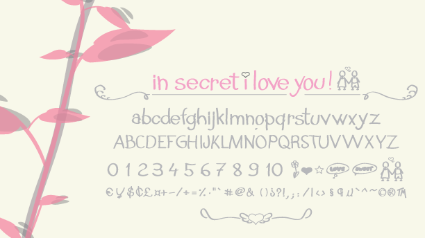N secret i love you font