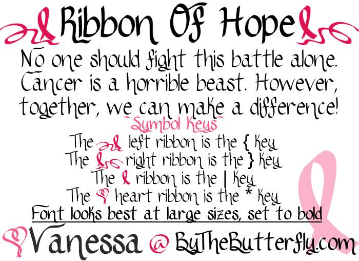 Ribbon Of Hope font