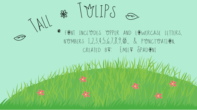 Tall Tulips font