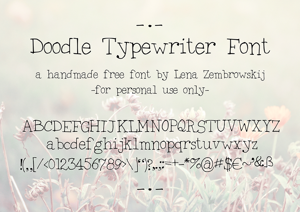 Doodle Typewriter font