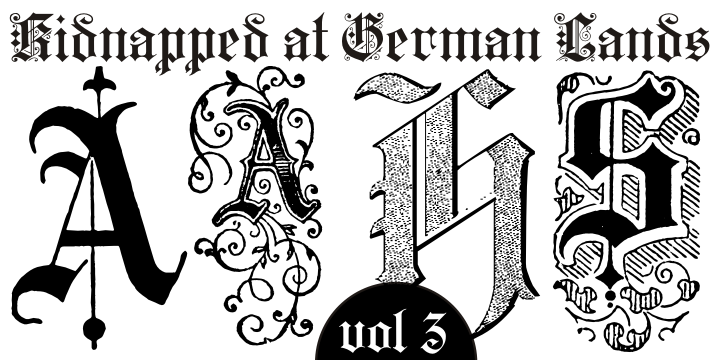 Kidnapped at german lands three font