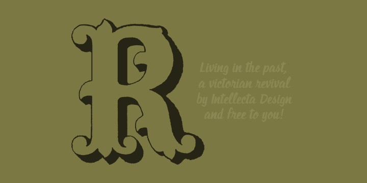 Living in the past font
