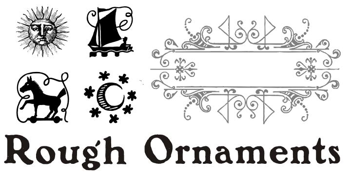 Rough ornaments font