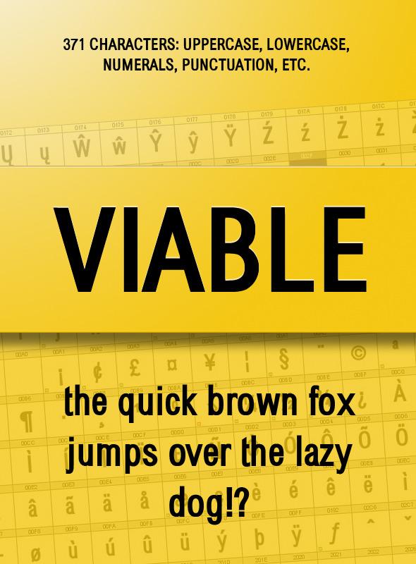 Viable Sans Serif Font