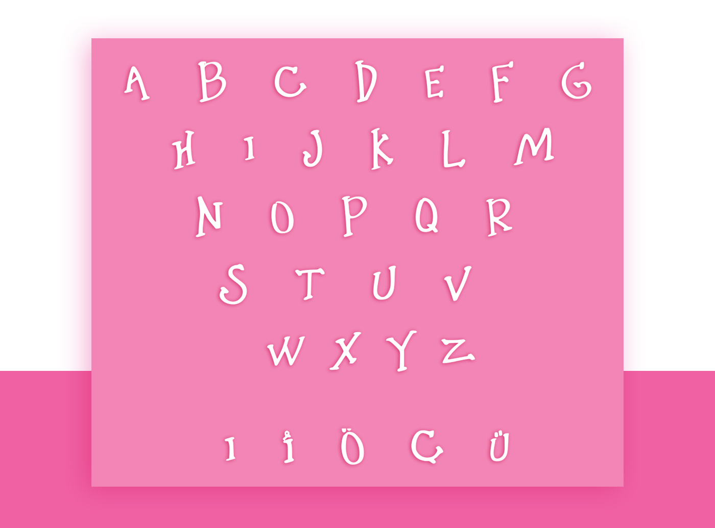 Little Pink Shit font