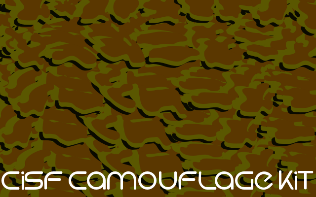 Cisf camouflage kit font