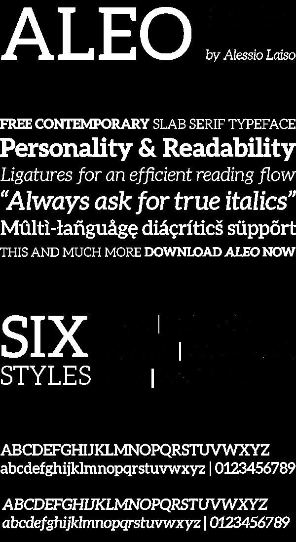 Aleo Light Italic font