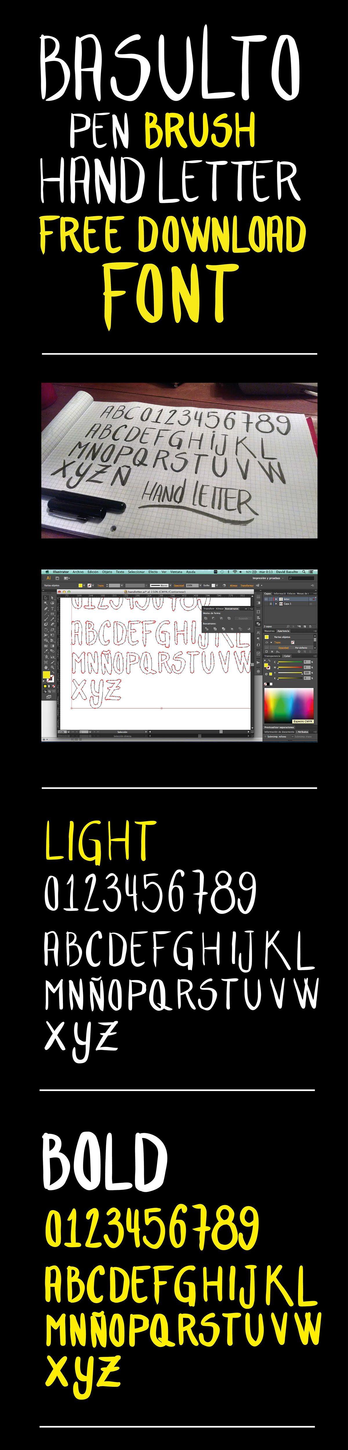 BasultoHandLetter font