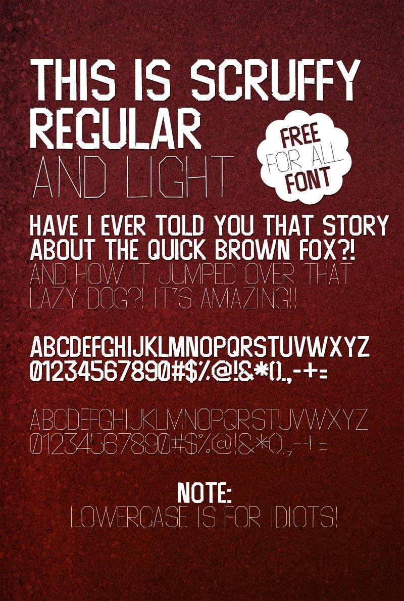 Scruffy-Light font