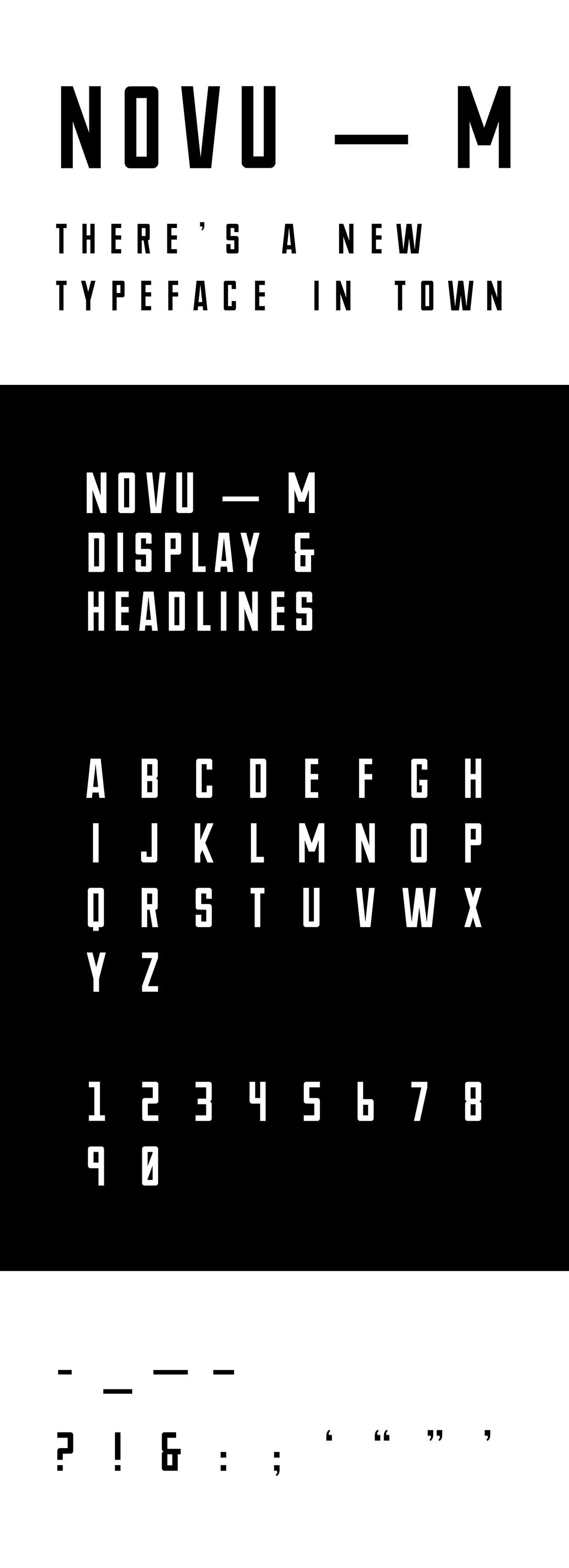NOVU M font