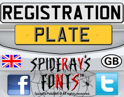 Registration Plate UK font