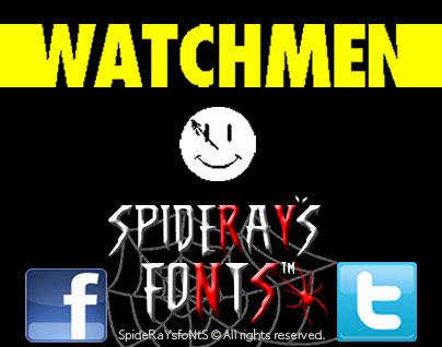 Watchmen font