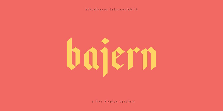 Bajern-Regular font