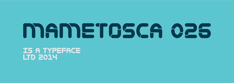 Mametosca026 font