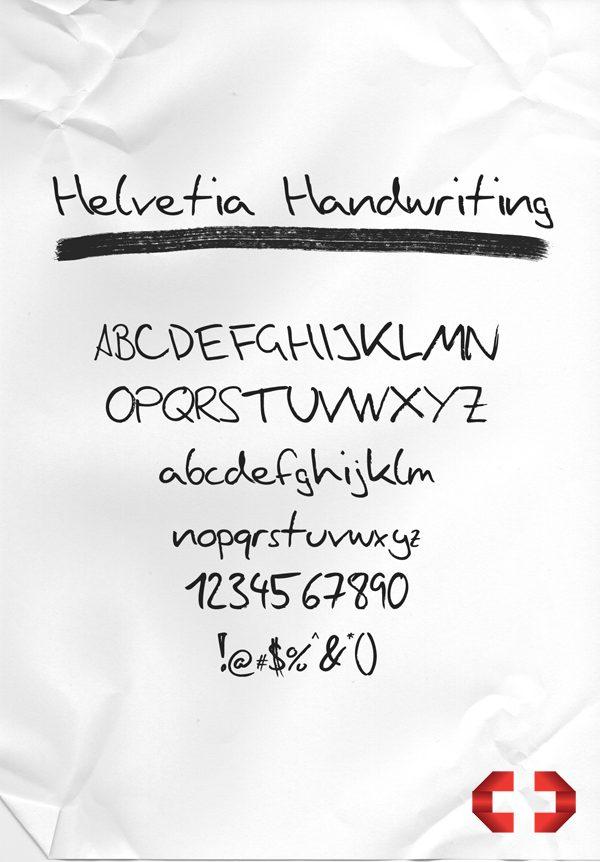 Helvetia Handwriting font