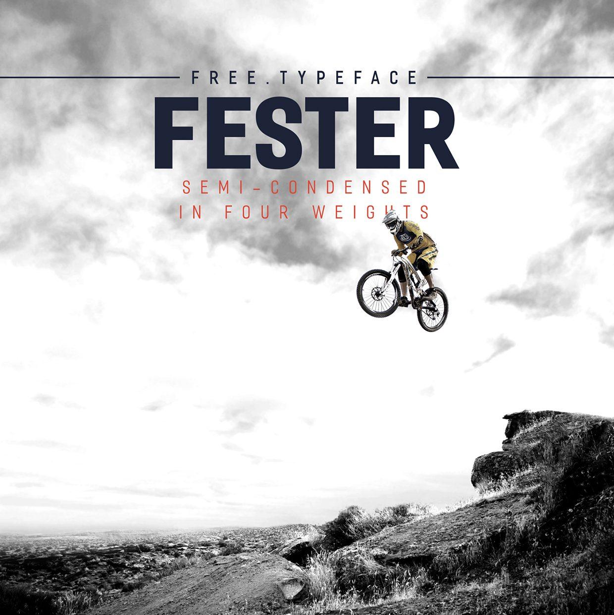 Fester Semi-condensed Bold font