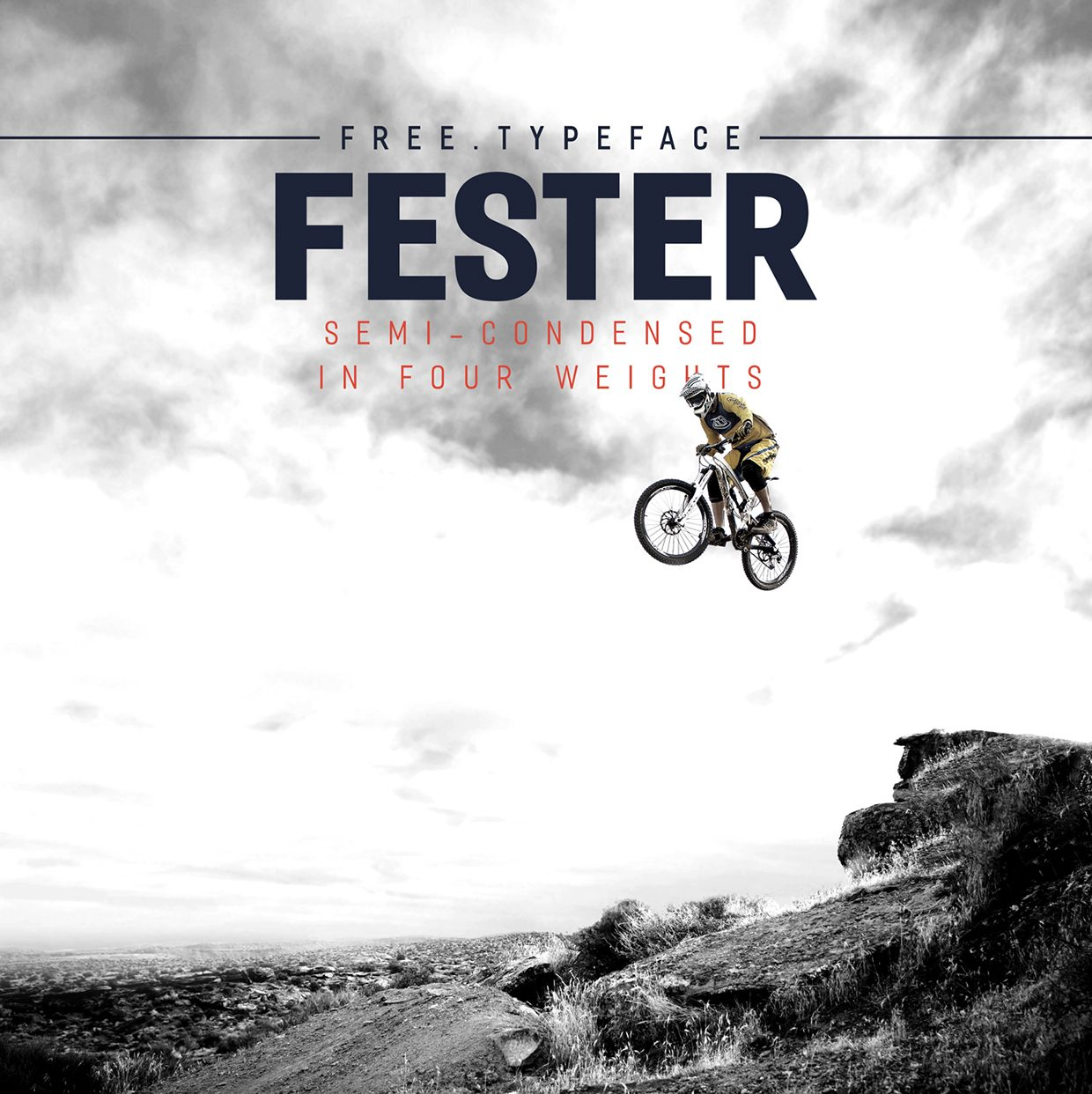 Fester Semi-condensed Medium font