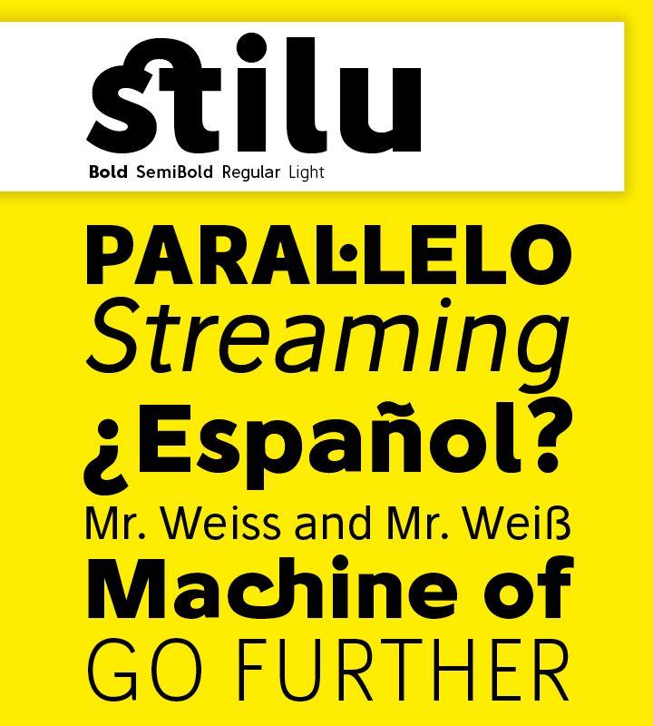 Stilu Bold Italic font